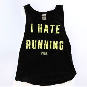 """❌❌SOLD❌❌🔹VS """"I hate running"""" workout tank🔹"""